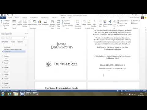 Tutorial Walkthrough: Formatting Documents for CreateSpace
