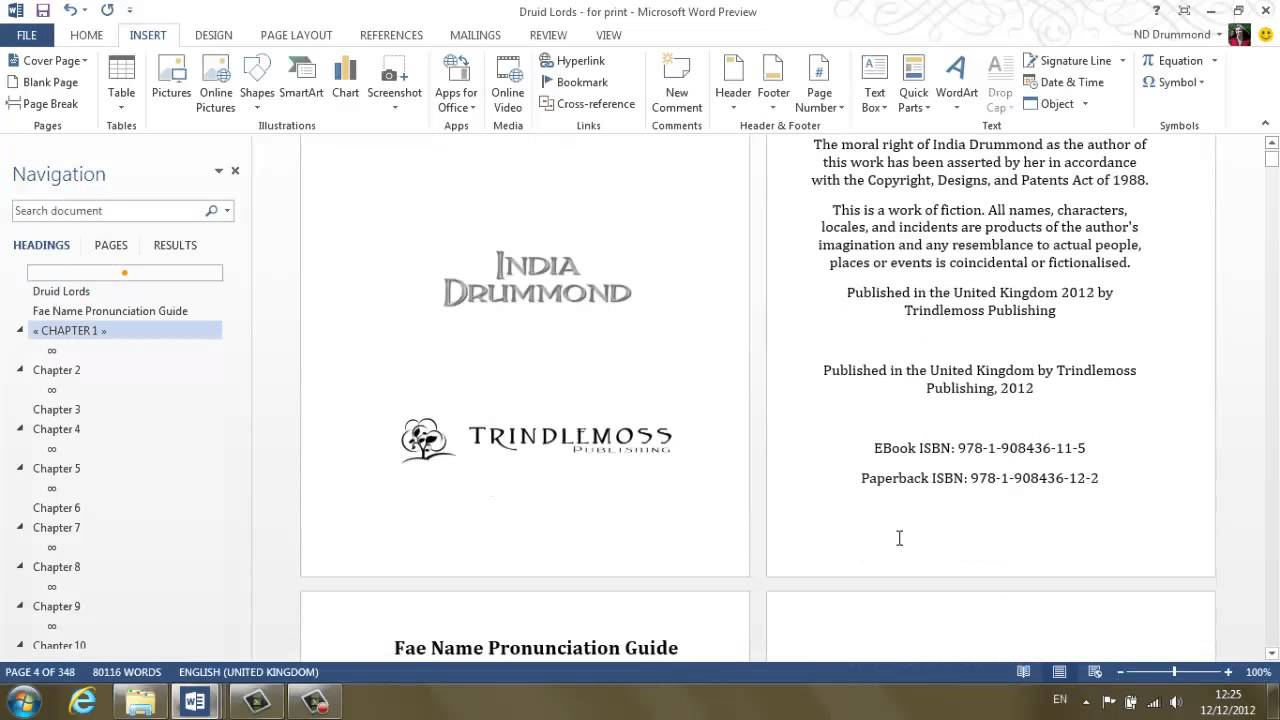 Tutorial walkthrough formatting documents for createspace youtube pronofoot35fo Gallery