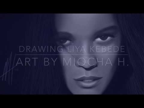 Drawing Liya Kebede / Digital Art