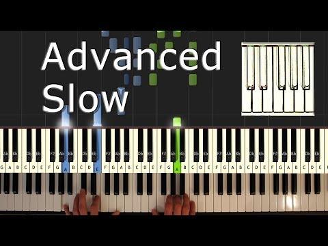 Amélie - Comptine d'un Autre Été - SLOW - Yann Tiersen - Piano Tutorial - How To Play (synthesia)