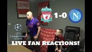 Liverpool 1 0 Napoli , UEFA Champions League LIVE FAN Reactions.