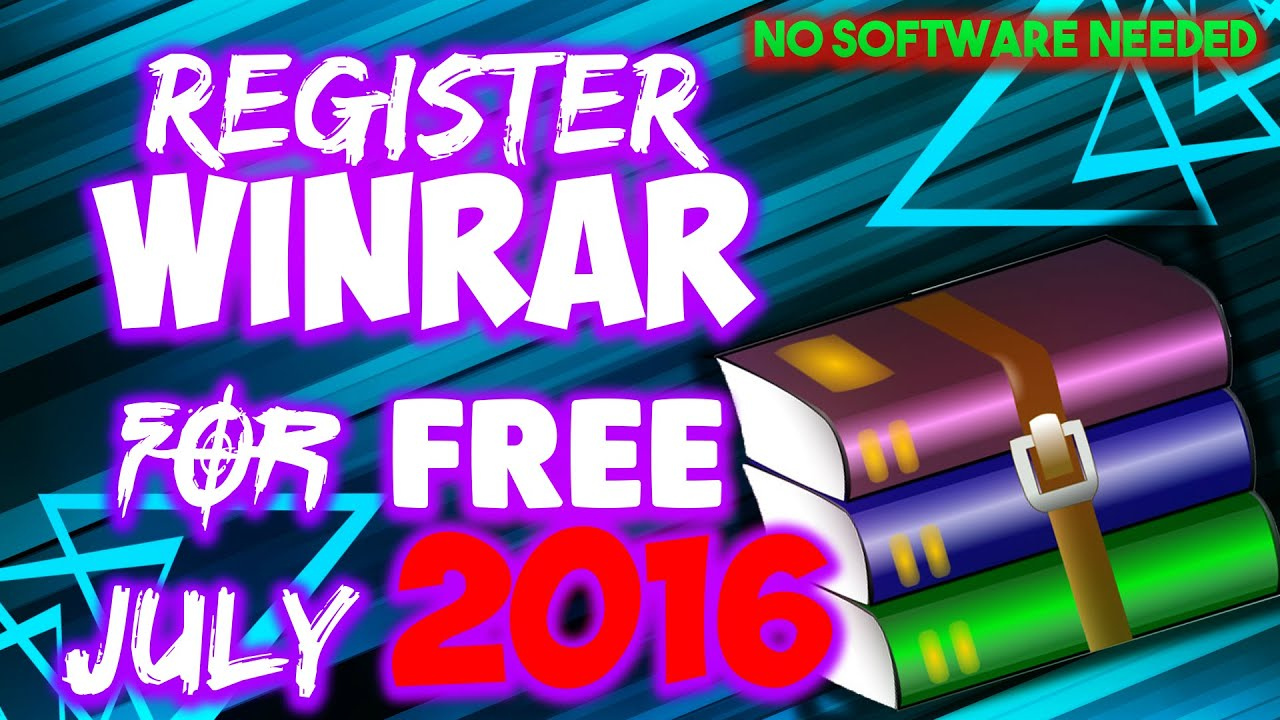How To Register/activate WINRAR For FREE | Windows and MAC IOS | JULY 2016  &25 hfh4s