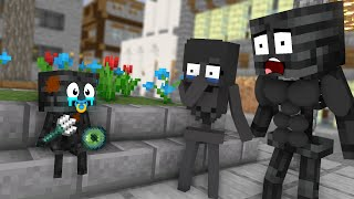 Monster School : Wither Skeleton Sad Life Challenge - Minecraft Animation