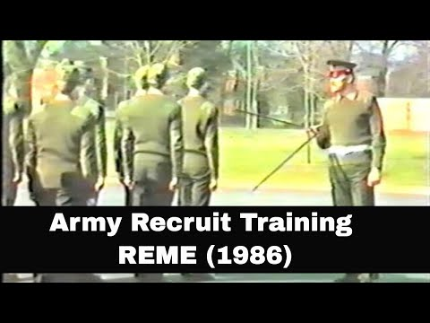 "Basic Army Recruit Training  - REME ""Craftsman in Army Recruit Training"" Arborfield April 1987"