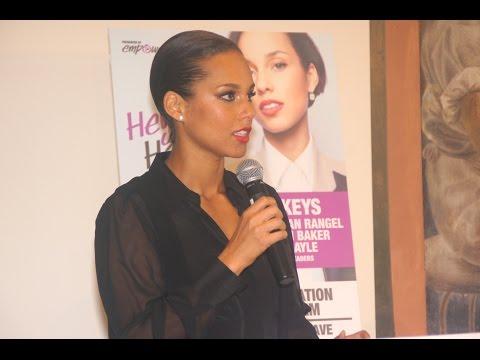 Alicia Key & Russell Simmons @ Harlem Hospital
