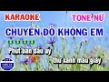Karaoke Chuyến Đò Không Em | Nhạc Sống Beat Nữ | Karaoke Tuấn Cò