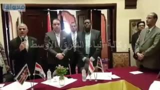 بالفيديو : توقيع البروتوكول بين وزير الري ونظيرة الكيني
