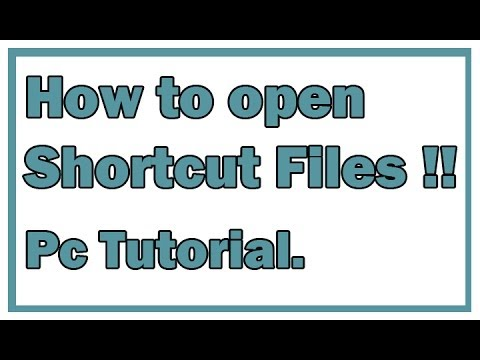 How to open a file infected by SHORTCUT virus