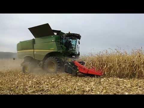 Как убирают кукурузу на зерно