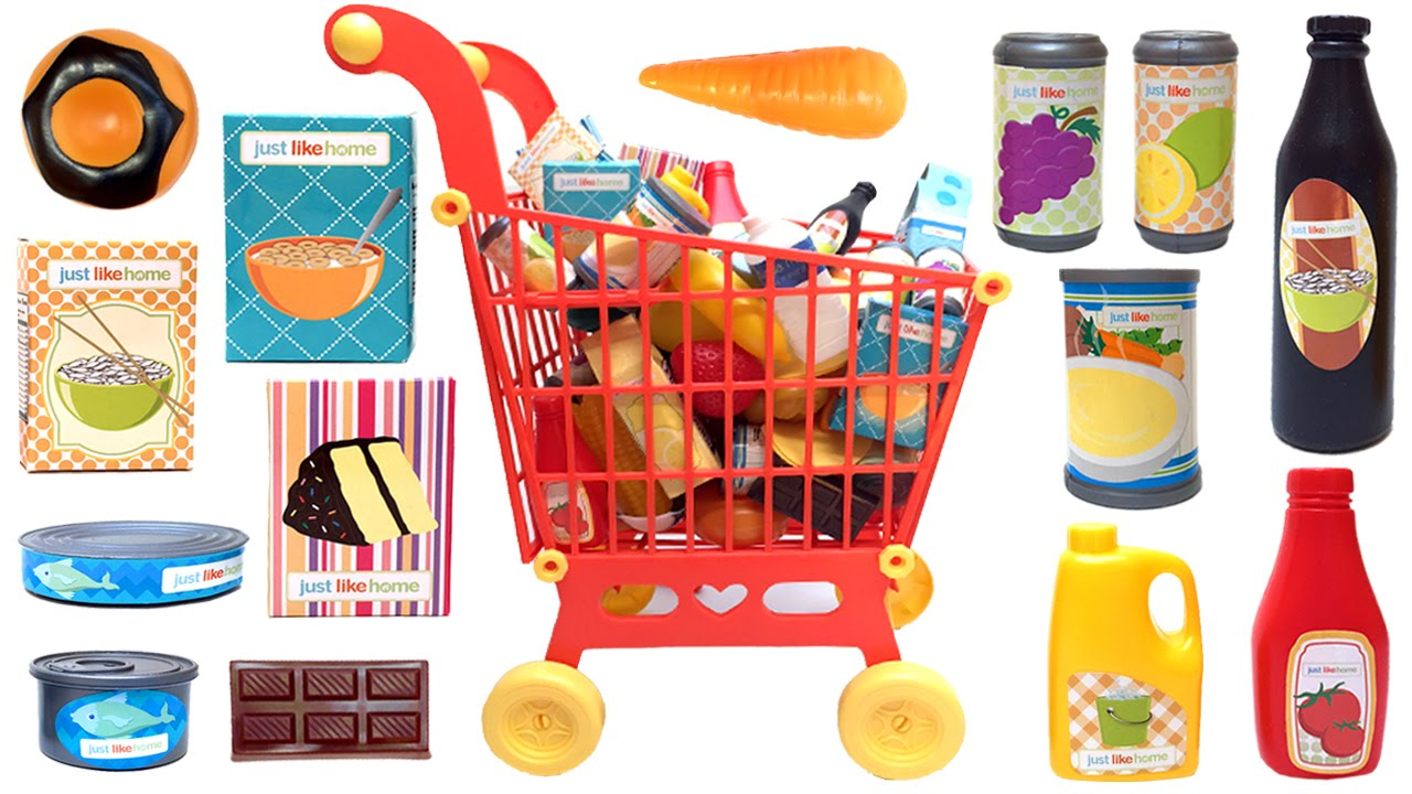 Just Like Home Toy Food : Just like home mega grocery playset supermarket game