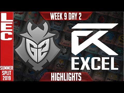 G2 vs XL Highlights | LEC Summer 2019 Week 9 Day 2 | G2 Esports vs Excel Esports
