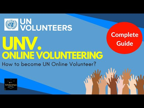 How To Become UNV Online Volunteer? | United Nations Volunteer | Complete Video Guide