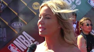 Jeanie Buss at the #NBAAwards talks Lakers Free Agency #LakersNation