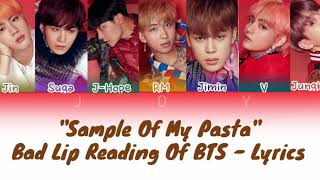 """Sample of my pasta"" Bad lip reading of BTS - Color coded lyri…"
