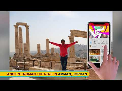 Ancient Roman Theatre in Amman, Jordan Travel with Mr Hanook HD