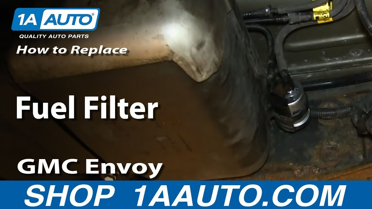 hight resolution of how to install replace fuel filter 2003 08 gmc envoy xl chevy rh youtube com 2004 tahoe fuel filter location 2004 trailblazer fuel filter location