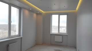 Классный ремонт  Парящий потолок в 1 ком  квартире.