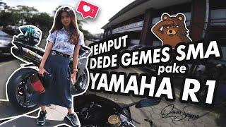 Jemput Dede Gemes Ke SMA BPI Pake Yamaha R1