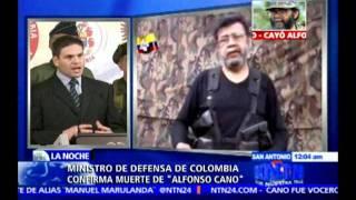 """Gambar cover Ministro de Defensa colombiano confirma la muerte de alias """"Alfonso Cano"""""""