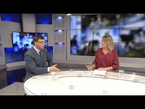Лидер Оппозиционного блока Евгений Мураев в студии телеканала TV5 (Запорожье) 26.06.19г.