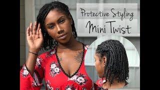 Protective Styling || Mini Twist || Naturally Candace