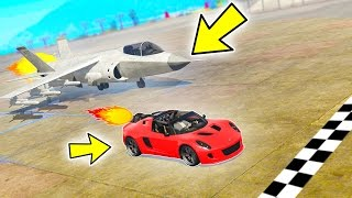GTA 5 - Who is Faster? (Rocket Car vs. Jet)