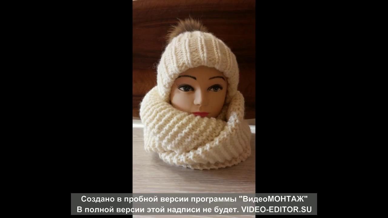 шапка из толстой пряжи yarnart