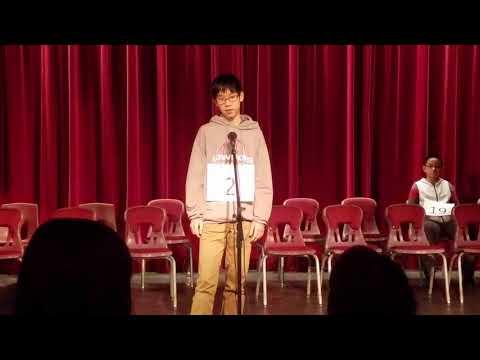 Eighth grader Jon Liu wins Lowndes County School System Spelling Bee Friday morning.