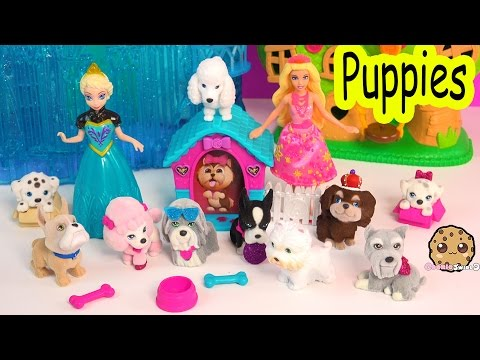 Barbie & Her Sisters In The Great Puppy Adventure + Puppies In My Pocket Toys Cookieswirlc Video