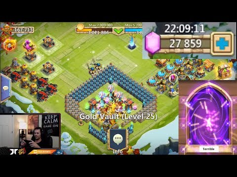 JT's Free 2 Play Rolling 20,000 Gems Hero Collector ONETIME Castle Clash