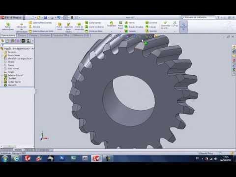 Diseño Engranaje Helicoidal Solidworks