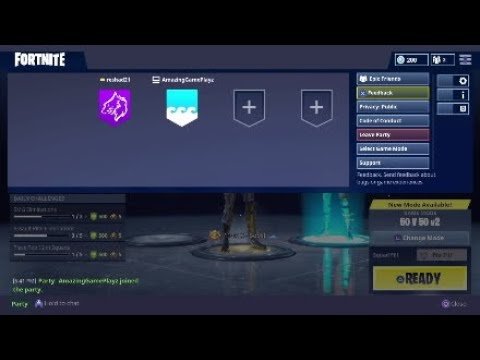 Fortnite - How to leave party PS4 - YouTube