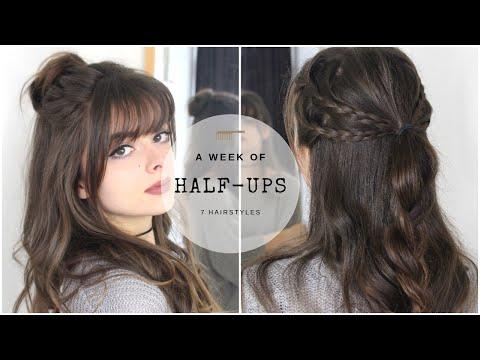 A Week of Half Ups 7 Hairstyles
