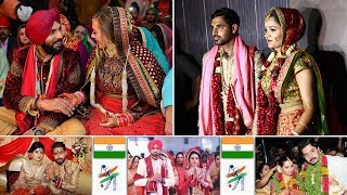 16 Star  Ndian Cricketers Wedding Moments   Ndian Cricketers With Wives