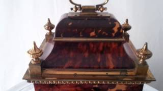 Antique  French Tortoiseshell Mantel Clock