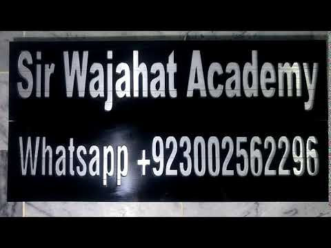 Sir Wajahat Academy, Online Classes, Online Tutoring For MBA, GCSE, Bcom, A Level