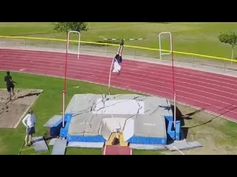 High school pole vaulter sets record