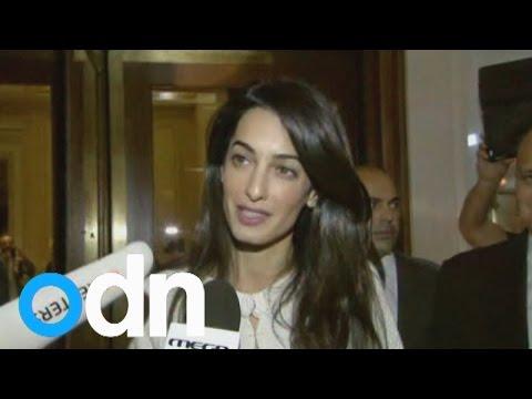 Amal Clooney arrives in Athens on Elgin Marbles return mission