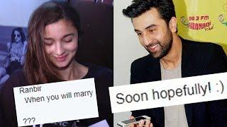 Ranbir Kapoor ANNOUNCES His Marriage, Is Alia Bhatt Listening ?