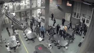 CCTV: Brawl breaks out in max-security jail, 10 hospitalised