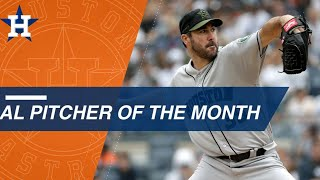 Justin Verlander wins AL pitcher of the Month