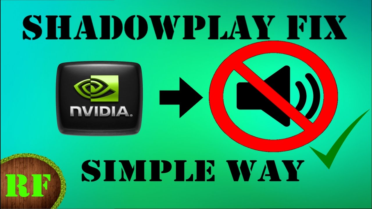 Shadowplay Not Recording Audio? Simple Fix / How to