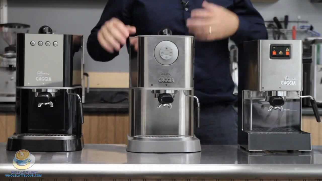 Comparing the Gaggia Classic, Baby Class & New Baby - YouTube
