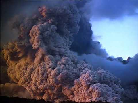 La erupcion del volcan santa elena