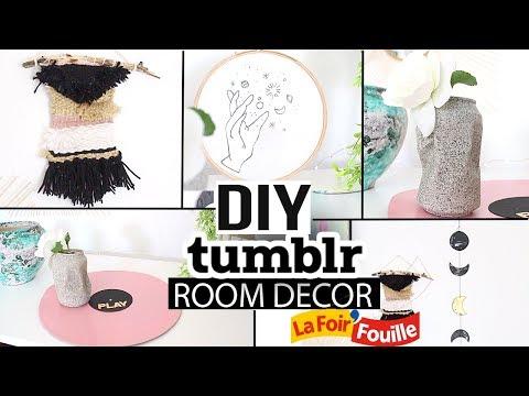 DIY FOIR'FOUILLE ┋ DECO TUMBLR FACILE & PAS CHERE ( room decor aesthetic)