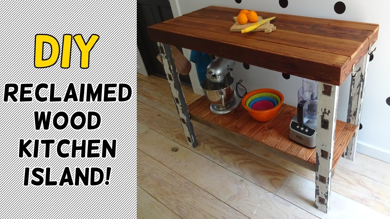Diy Reclaimed Wood Kitchen Island Youtube