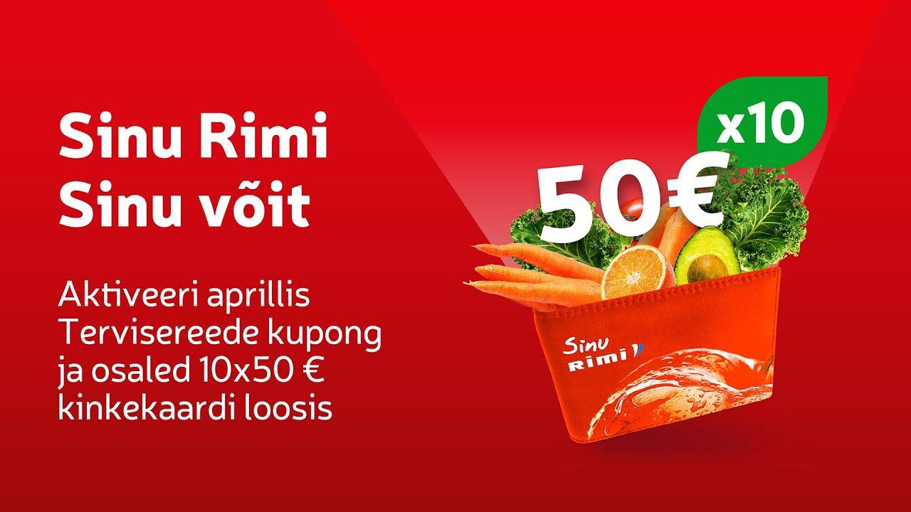 🙌 Võida 50 € Rimi kinkekaart