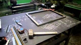 Дверка для камина. Изготовление.(На видео показана небольшая часть процесса изготовления дверки для камина. В частности шлифовка дверки..., 2013-12-17T11:40:15.000Z)