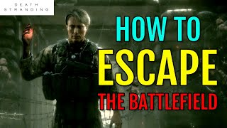 How to ESCAPE the battlefield in Chapter 4 (Unger Boss Fight / Combat Gameplay) | Death Stranding