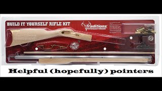 Traditions kentucky build your own rifle kit helpful tips